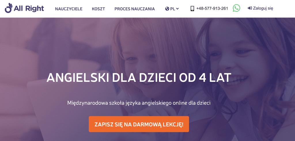 AllRight szkoła angielskiego online