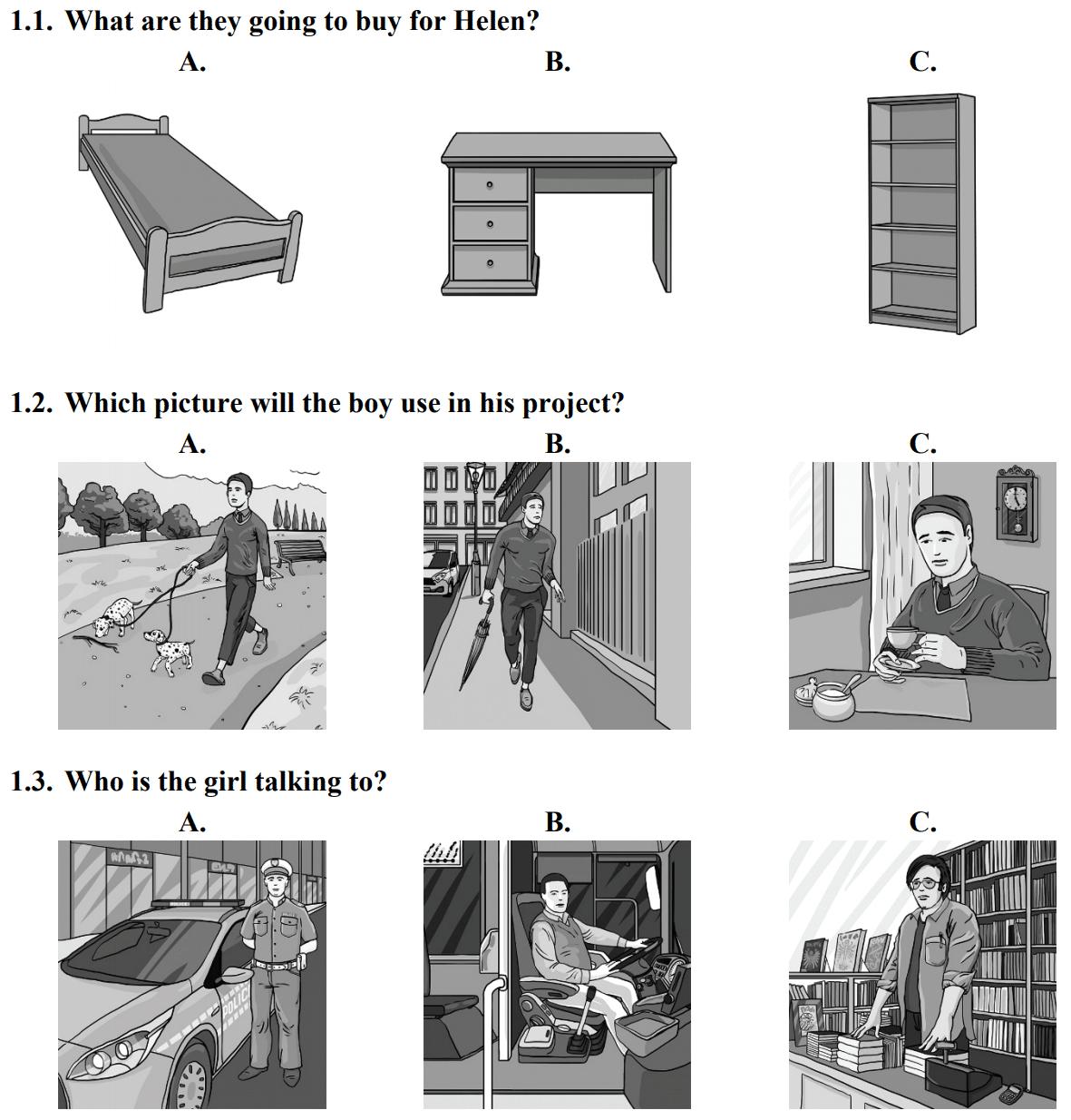 egzamin ósmoklasisty - test z angielskiego